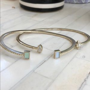 Two Kendra Scott Iridescent Pinch Bracelets